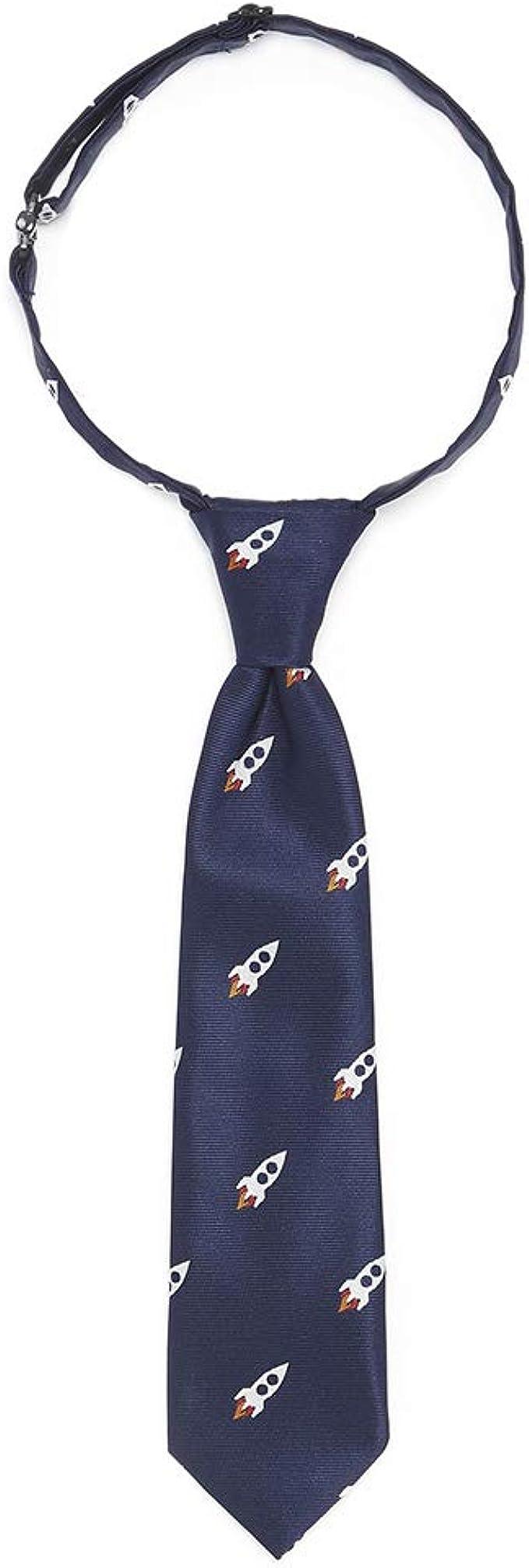 Lovjoy - Corbata - para niño Azul Navy Rocket Talla única: Amazon ...