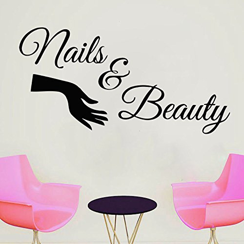 Wall Decal Window Sticker Beauty Salon Woman Face Nails for sale  Delivered anywhere in USA