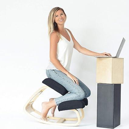 Sleekform ergonomique Chaise assis genoux une meilleure Posture Repose genoux – Excellent Bureau à domicile ou chaise de bureau – Assise doux,