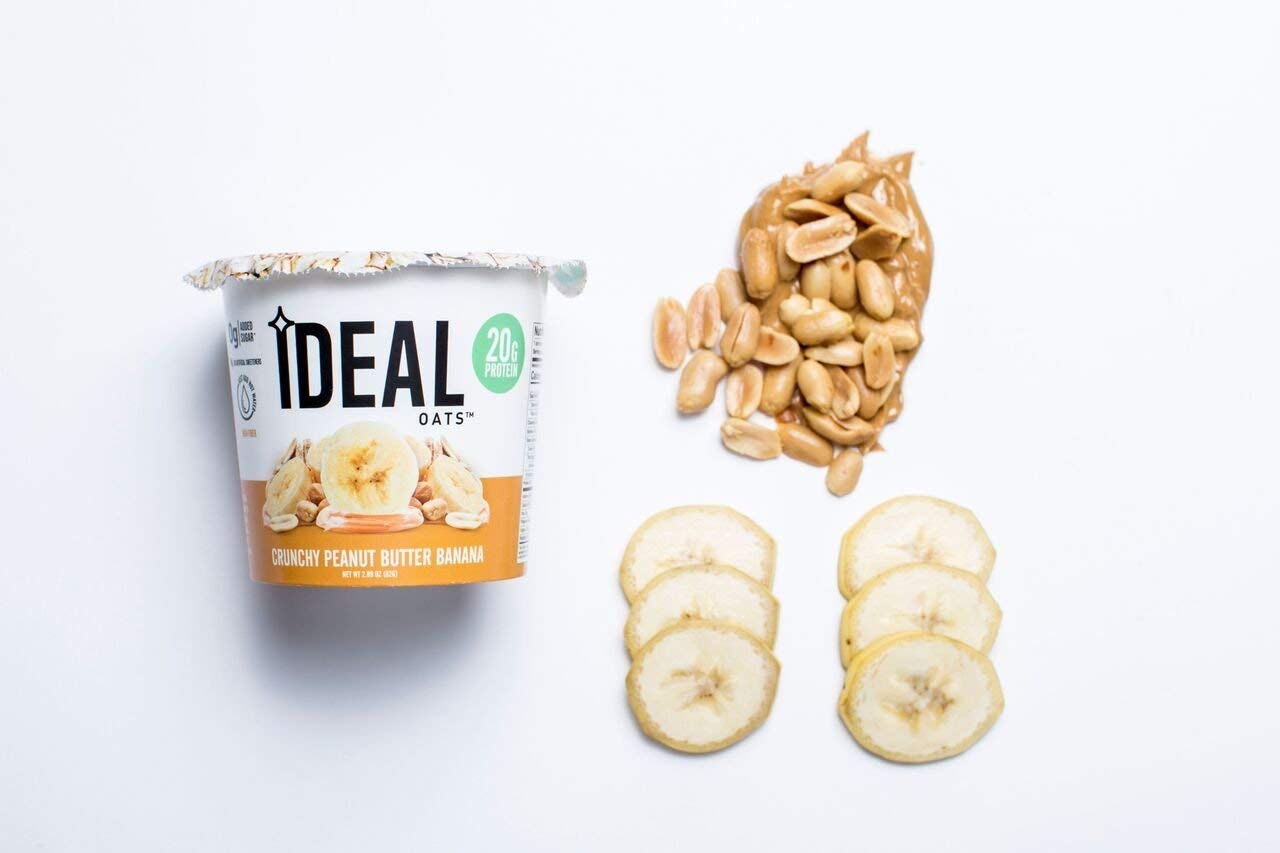 Ideal Oats Gluten Free Protein Oatmeal To-Go, Creamy Peanut Butter Banana (6 Pack) - 20g Protein, No Added Sugar by Ideal Oats