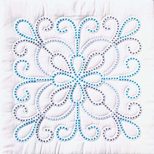 - Jack Dempsey Needle Art 732103 XX Design 6-Quilt Block, 18-Inch by 18-Inch, White