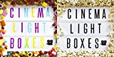 Cinematic Lightbox | USB or battery operated | Retro style light up cinema sign | Amazing wedding party decoration | Great gift idea (A4 Cinema Lightbox with 80 Standard Tiles)