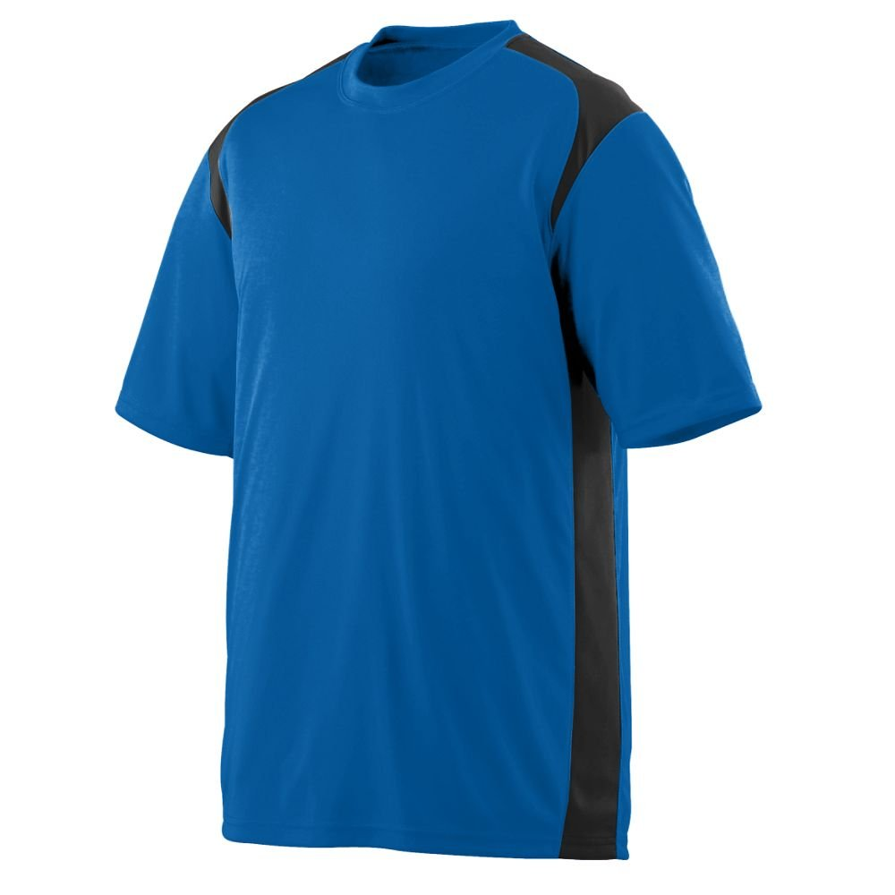 4XL Royal and Black Adult Wicking//Antimicrobial Gameday Crew