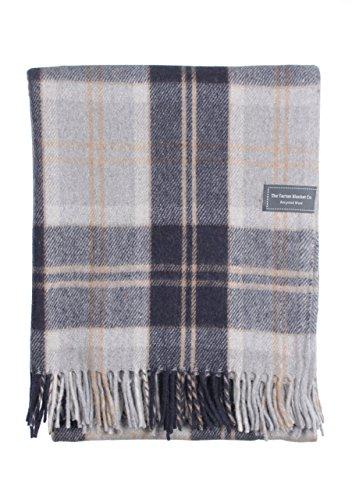 The Tartan Blanket Co.. Recycled Wool Blanket Bannockbane Silver Tartan (68