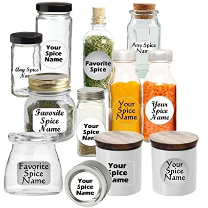 amazon com premium spice jar labels custom set of 145 oval clear