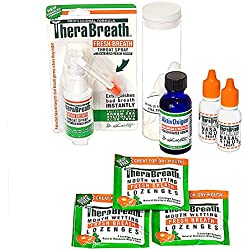TheraBreath Dentist Formulated Tonsil Stones (Tonsilloliths) Treatment Kit
