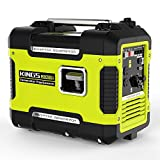 2000 Watt Portable Generator - Inverter Generator Portable 2000 W,Ultra Quiet Generator Power Station With 12V DC,120 AC,Gas Power Generator Inverter