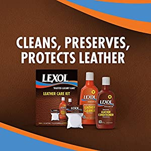 Lexol E301123100 Leather Conditioner and Cleaner Care Kit, 8 oz, For Use on Leather Apparel, Furniture, Auto Interiors, Shoes, Bags and Accessories