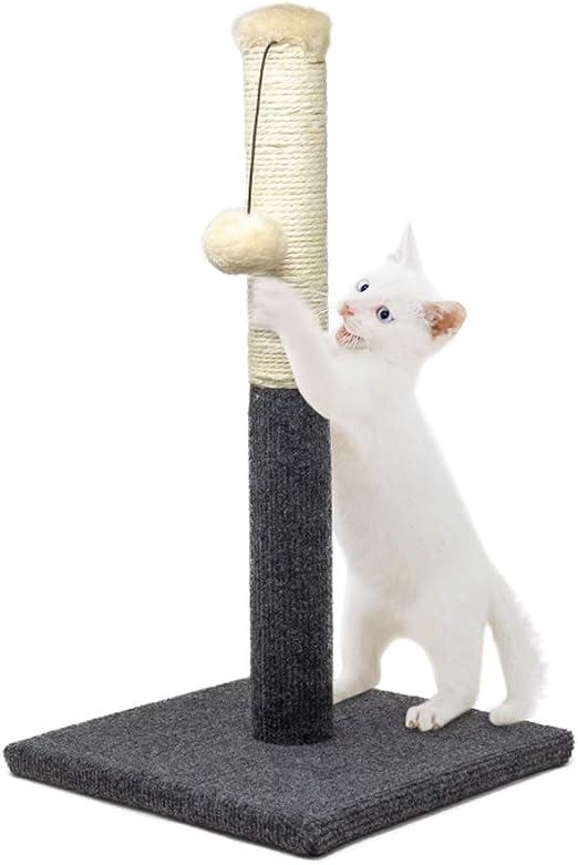 allpetsolutions - Rascador para Gatos (50 cm), diseño de Gato, Color Gris: Amazon.es: Productos para mascotas