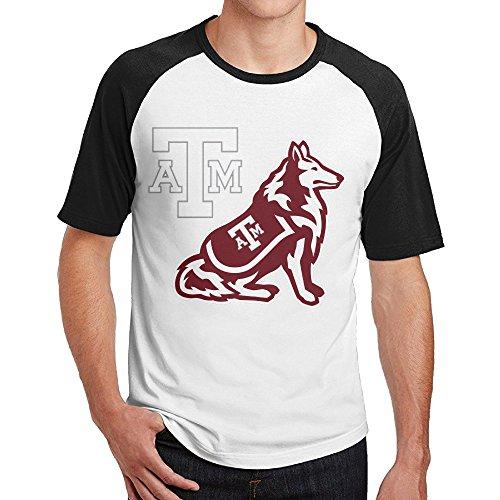 Texas A&M University--College Station Raglan Jersey Shirt Short Sleeve Graphic Tee ()