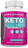 Keto Her - Burn Fat Instead of Carbs Ketogenic Weight Loss Formula by State Nutrition - Reach Ketosis Quickly with Keto Her - Ketogenic Supplement Formulated for Women - 60 Capsules
