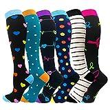 Compression Socks For Women Men 20-25mmHg-Best Medical, Nursing, Travel & Flight Socks (Small/Medium, Mix of Colors4)
