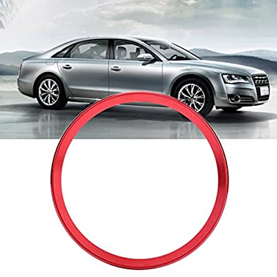 Interior Steering Wheel Ring Cover Trim Aluminum Alloy Car Steering Wheel Ring Cover Trim for Audi A1 A3 A4 A5 A6 Q3 Q5 (Red): Automotive