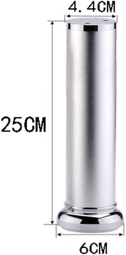 Pieds De Table en Aluminium Pieds R/églables pour Chaises//Meubles De T/él/évision//Armoire//Table /À Th/é//Tapis Argent 8-30CM Size : 25CM