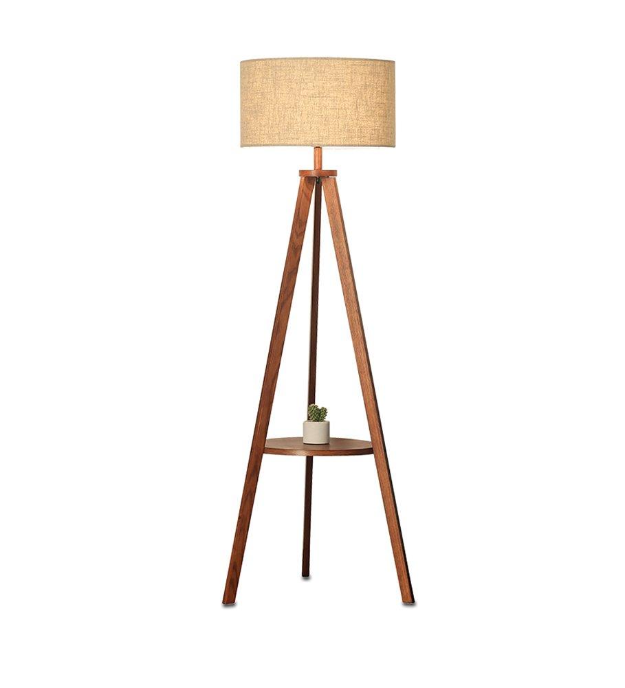 シンプルなモダンフロアランプリビングルーム北欧ソリッドウッドコーヒーテーブルベッドルームベッドサイドフットスイッチ高155.5cm (色 : #1) B07D9B2K97  #1