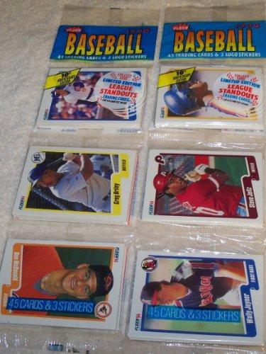 (2) 1990 FLEER RACK PACKS Baseball Cards