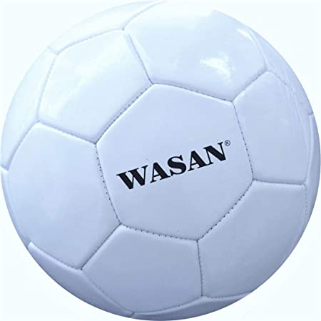 Wasan Soccer Football White Size 5  12 Years and Above