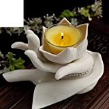 Buddhism for the light long light Chiba Lotus candle holder ceramic butter lamp
