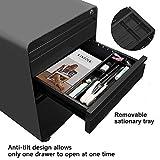 3-Drawer Filling Cabinet, Metal Vertical File