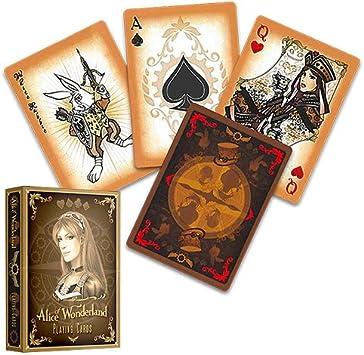 Argent Poker Cartes de Jeu Alice de Wonderland Pont