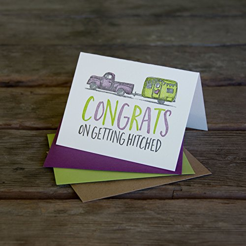 Congrats on getting hitched, wedding letterpress printed eco friendly