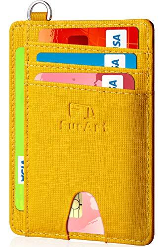 FurArt Slim Minimalist Wallet, RFID Blocking, Front Pocket Leather Wallets, Credit Card Holer for Men Women