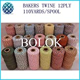FINCOS 55 Kinds Color Baker Twine 110yards/spool (20pcs/lot) Gift Packing Rope, Cotton Packing Rope