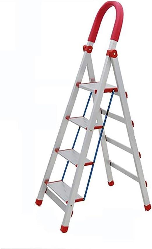 GG.S Escalera Plegable de 3/4 peldaños, Taburete de Aluminio ...