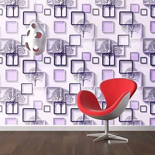 Wow Interiors Pvc Self Adhesive Peel And Stick Purple White Square Wallpaper 400cmx45cm Amazon In Home Improvement