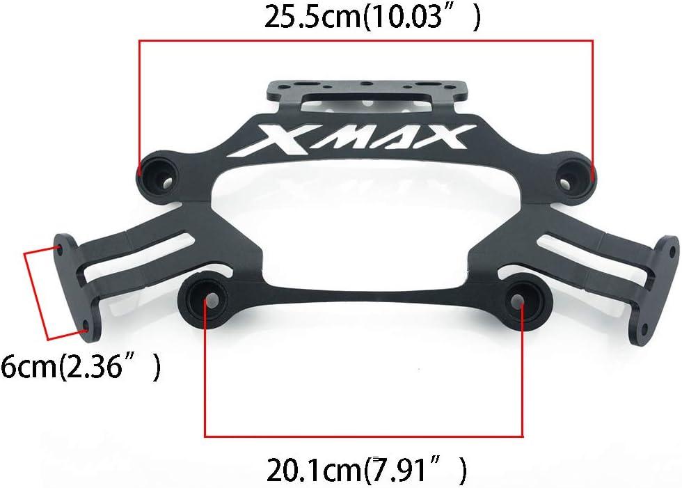Kamenda Soporte GPS Soporte de motocicleta Soporte de placa de navegaci/ón de tel/éfono m/óvil Soporte lateral para espejos retrovisores para XMAX 300 400 125 250 2017-2019