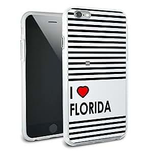 I Love Heart Florida Protective Slim Hybrid Rubber Bumper Case for Apple iPhone 6 6s Plus