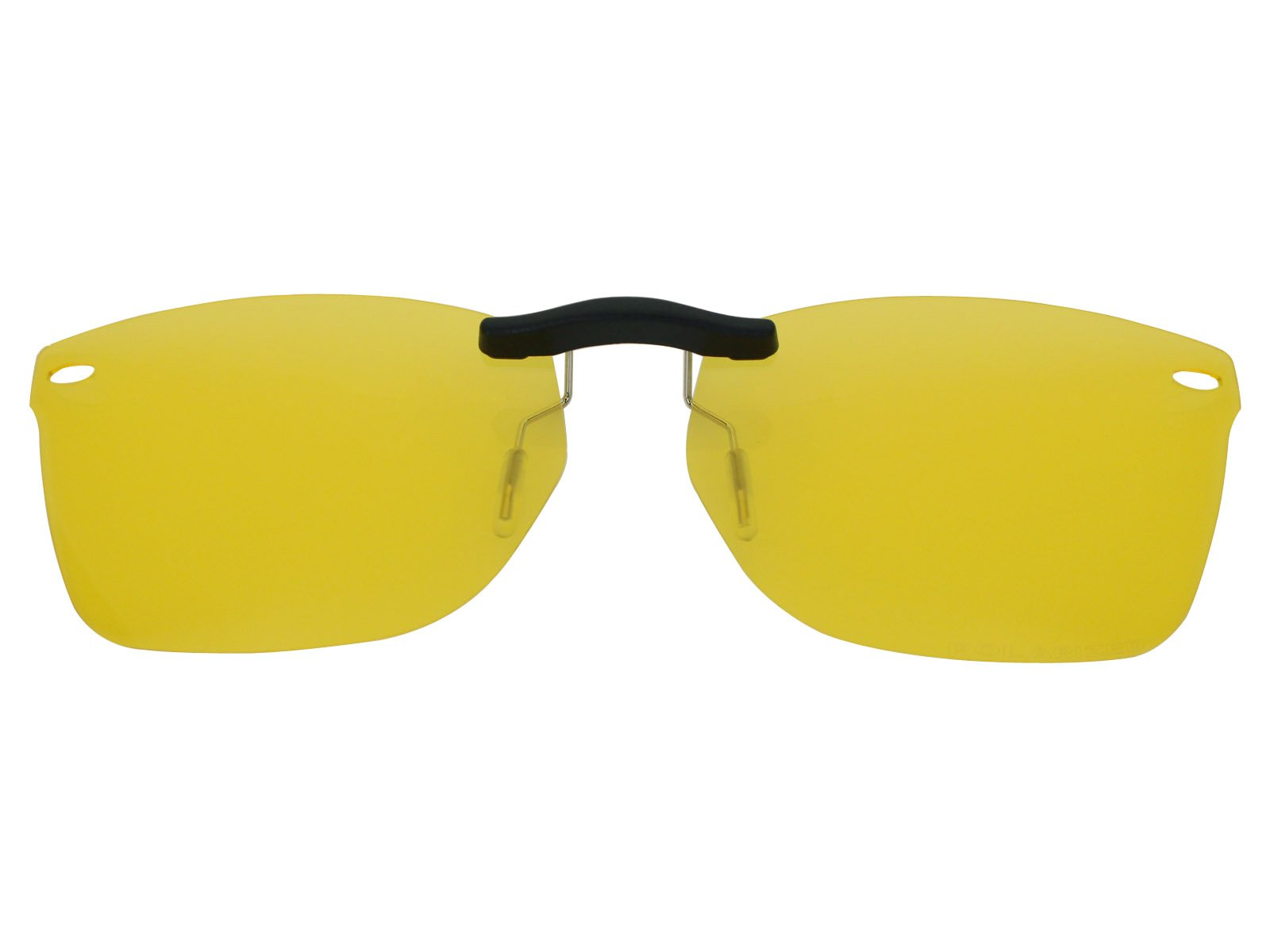 Custom Fit Polarized CLIP-ON Sunglasses For Ray-Ban RB5228 53X17 HD Yellow