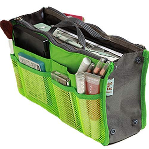 Purse Organizer Makeup Da Fluorescente Insert Mercato Lady Handbag Borsa Donna Bag Liner Large Verde Buon Nylon Travel Cosmetic A Women qvvOrFYR