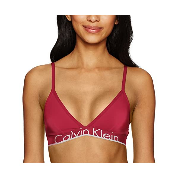 1abd8f388f Calvin Klein Women s Id Cotton Large Waistband Triangle Unlined Bra ...