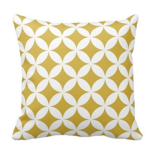 karilshop Mostaza y blanco círculos amarillo funda para ...