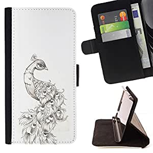 Momo Phone Case / Flip Funda de Cuero Case Cover - Tatuaje Dibujo Tinta Negro Blanco - Samsung Galaxy S6