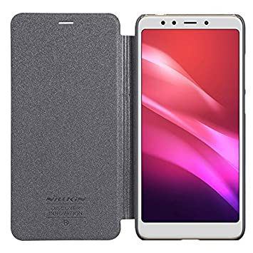 BCIT Xiaomi Redmi 5 Plus Carcasa Case PU Flip Slim Smart Cover Funda Protectora Cubierta para Xiaomi Redmi 5 Plus - Negro