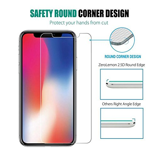 iPhone X Screen Protector, SPE (Clear) iPhone X Tempered Glass Screen Protectors [3D Touch] 0.25mm Screen Protector Glass for Apple iPhoneX 2017 work with most case 99% Touch Accurate