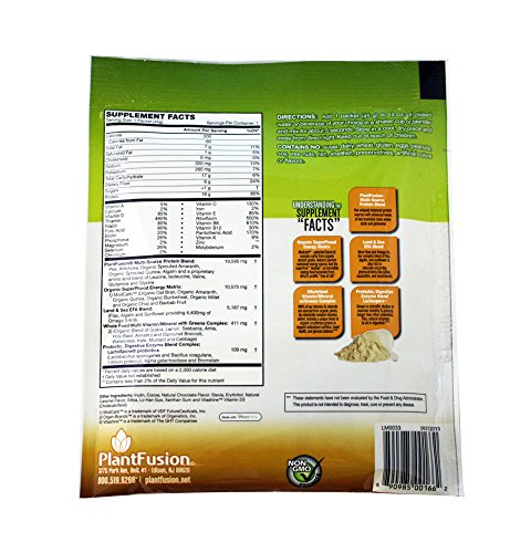 Plantfusion Phood Power Protein Blend Packets, Chocolate Caramel, 12 Ounce