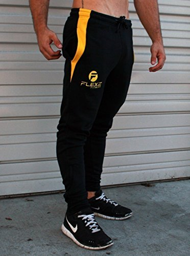 Fitted Sweat Pants | Sweatpants Bodybuilding Pants Joggers Gym Black Small