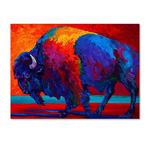 Abstract Bison by Marion Rose, 35x47-Inch Canvas Wall Art