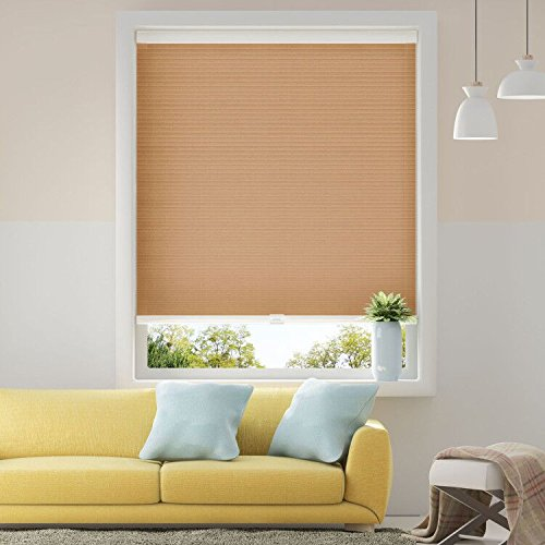 Cellular Window Shade - Cellular Shades Honeycomb Blinds Light Filtering Cordless Single Cell Window Shades Blinds for Home Office 27