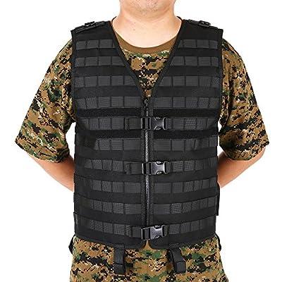 Lixada Molle Modular Vest with Hidden Mesh Hydration Pocket Outdoor Tactical Vest Modular Chest Set