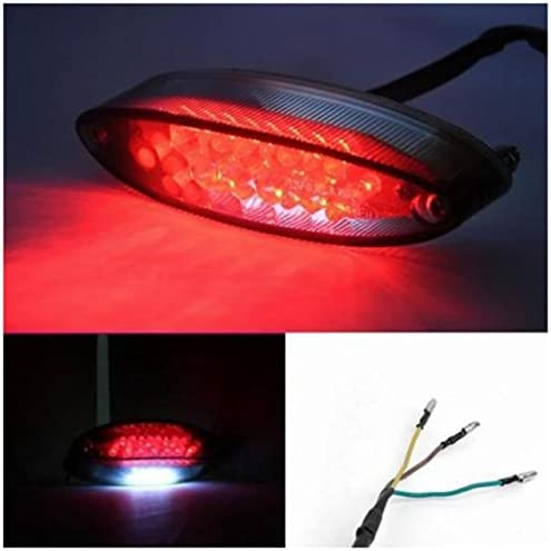 Nrpfell Universal Moto V/élo 28 LED Feu Arri/ère Frein Stop Lumi/ère Lampe De Plaque DImmatriculation
