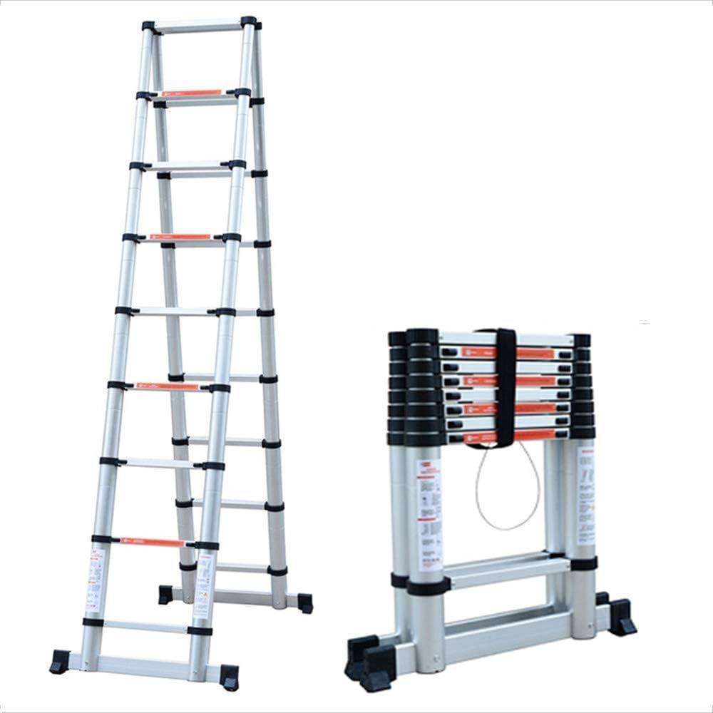Felices juntos Escalera de bambú Conjunta casera de aleación de Aluminio en Espiga Plana Elevador telescópico Escalera de Escalada doméstica Ambiente Multifuncional (2m-3.8m) (Size : 2m): Amazon.es: Hogar