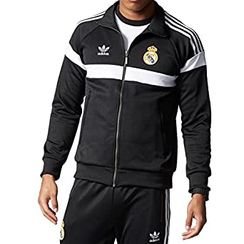 the latest f3ea4 d566b adidas Originals Mens Real Madrid Track Jacket - Black ...
