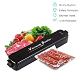 Portable Vacuum Sealer Small Sealing Machine For Dry & Moist Food Preservation And Storage With 15pcs Vacuum Bags
