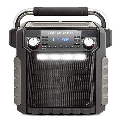 Ion Audio Job Rocker Max Bluetooth Speaker, Black (Renewed) (Portable Ion Speaker)