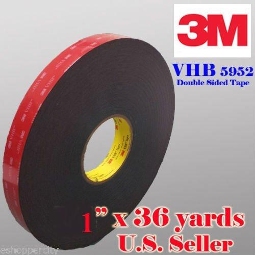 "Genuine 3M 1"" (25mm) x 108 Ft (36 Yards) VHB Double"