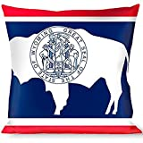 Buckle-Down Throw Pillow Flags, Wyoming